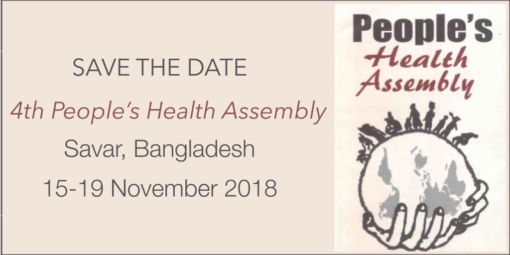 Aparte la fecha: Cuarta Asamblea Mundial de Salud de los Pueblos