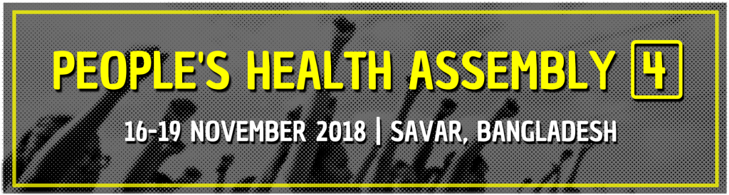 News from the 4th People's Health Assembly!