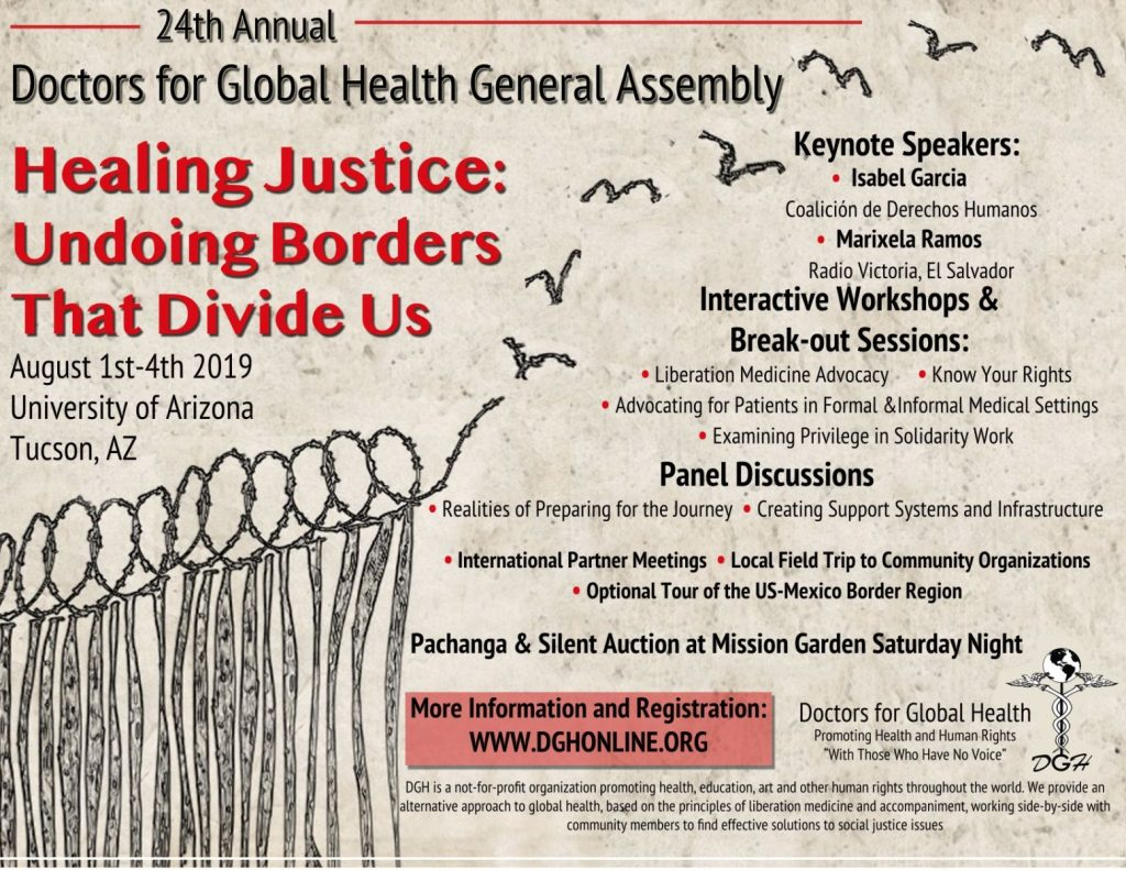 DGH General Assembly 2019 – Healing Justice: Undoing Borders that Divide Us